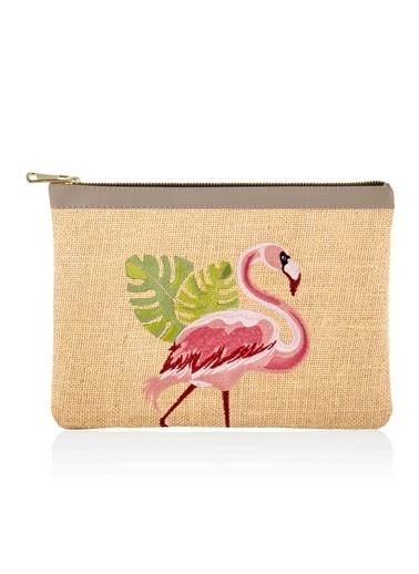 The Mia Jüt El Çantası Flamingo Renkli